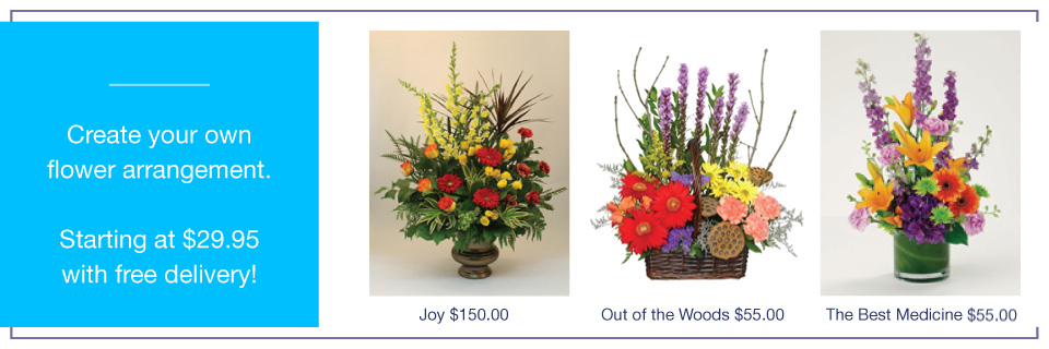 Create your own flower arrangement
