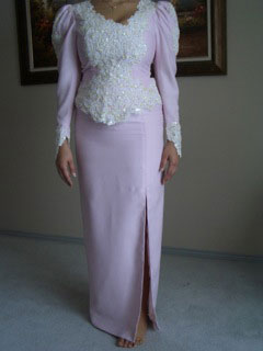 Dress in lilac color